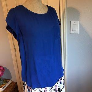Silk Joie cobalt blue cap sleeve top